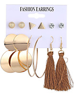 cheap -tassel earring earrings geometric metal earring  acrylic set