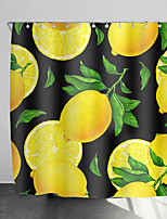 cheap -Shower Curtains with Hooks Fresh Fruit Scenery Polyester Novelty Fabric Waterproof Shower Curtain for Bathroom