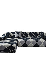 cheap -Sofa Cover Simple Geometry Print Dustproof Stretch Slipcovers Stretch Super Soft Fabric Couch Cover Fit for 1to  4 Cushion Couch and L Shape Sofa (You will Get 1 Throw Pillow Case as free Gift)
