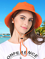 cheap -Women's Fisherman Hat Hiking Cap 1 PCS Outdoor Portable Sunscreen Breathable Soft Hat Solid Color Polyester Yellow Red Grey for Fishing Climbing Beach