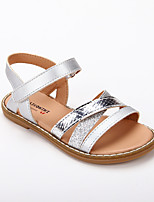 cheap -Girls' Sandals Roman Shoes Princess Shoes PU Katy Perry Sandals Little Kids(4-7ys) Daily Party & Evening Sequin Braided Strap Silver Spring Summer
