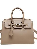 cheap -Women's Bags PU Leather Satchel Top Handle Bag Date Office & Career 2021 Handbags Black Khaki Gray
