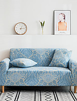 cheap -2021 New Stylish Simplicity Print Sofa Cover Stretch Couch  Super Soft Fabric Retro Hot Sale Sky Blue Couch Cover