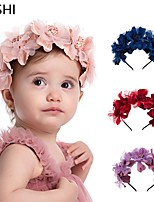 cheap -european and american cross-border creative simulation color flowers children's headband spring travel seaside vacation children's baby hair accessories