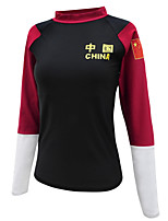 cheap -Women's Diving Rash Guard Spandex Swimwear UV Sun Protection Quick Dry Long Sleeve Swimming Diving Surfing Snorkeling Patchwork Autumn / Fall Spring Summer