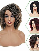 cheap -8 inch short dreadlock wig for black women afro curly twist wigs synthetic heat resistant breathable faux locs braids hair wigs with curly ends crochet braided wigs (1b/27)