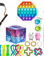 cheap -21 pcs Sensory Fidget Toys Set Bundle-DNA Pop Bubble Soybean Squeeze Stress Relief Balls with Fidget Hand Toys for Kids Adults Calming Toys for ADHD Autism Anxiety Relief