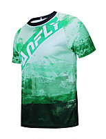 cheap -CAWANFLY Men's Short Sleeve Downhill Jersey with Pants Dirt Bike Jersey Green / Black Novelty Funny Bike Tee Tshirt Jersey Top Mountain Bike MTB Road Bike Cycling Breathable Sports Clothing Apparel