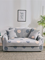 cheap -Gray Floral Print Dustproof All-powerful  Stretch Sofa Cover Super Soft Fabric  with One Free Boster Case
