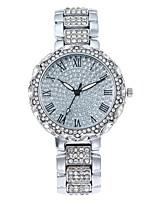 cheap -star steel belt with rhinestone face roman numerals full of diamonds women's watch