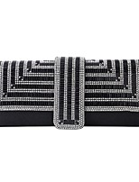cheap -Women's Bags PU Leather Evening Bag Top Handle Bag Crystals Chain Glitter Shine Daily Wedding Party Date Handbags Chain Bag MessengerBag Black Silver