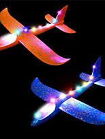 cheap -2 pcs Flashing Luminous Glider Plane 2 Flight Mode Aerobatic Shining Foam Airplane Fly at Night for Kids Gift