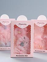 cheap -2021 new korean children's princess limelight flower jewelry little girl lace crown hair accessory baby hair band headdress