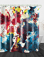 cheap -Splash ink Painting Print Waterproof Fabric Shower Curtain for Bathroom Home Decor Covered Bathtub Curtains Liner Includes with Hooks