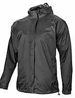 cheap -men's cycling jacket waterproof rain coat windproof running jacket women reflective tape outdoor with storage bag black
