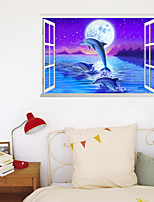 cheap -3D Starry Sky Wall Stickers Bedroom Stair Removable Pre-pasted PVC Home Decoration Wall Decal 1pc