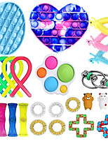 cheap -25 pcs Fidget Toys Anti Stress Set Stretchy Strings toys for Adults Children Gift Pack Squishy Sensory Antistress Relief Figet Toy