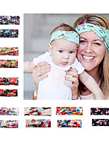 cheap -2017 new european and american parent-child printing hair accessories headband cross stretch hairband headband baby mother headband