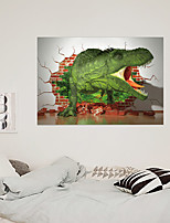 cheap -Simulation 3D Broken Wall Fierce Dinosaur Children's Room Home Background Decoration Can Be Removed Stickers