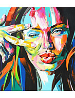 cheap -Oil Painting Hand Painted Abstract Figure Pop Art  Wall Art Home Decoration Rolled Canvas No Frame Unstretched