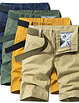 """cheap -Men's Hiking Shorts Hiking Cargo Shorts Military Summer Outdoor 10"""" Quick Dry Breathable Sweat wicking Wear Resistance Cotton Shorts Bottoms Yellow Army Green Blue Khaki Camping / Hiking Hunting Beach"""