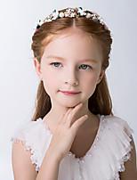 cheap -cross-border new girl's hair accessories, children's headdress, flower girl dress accessories, headband, wreath, corolla, pink korean headband