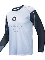 cheap -CAWANFLY Men's Long Sleeve Cycling Jersey Downhill Jersey with Pants Dirt Bike Jersey Winter Blue / Black Novelty Funny Bike Tee Tshirt Jersey Top Mountain Bike MTB Road Bike Cycling Quick Dry