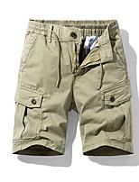 "cheap -Men's Hiking Shorts Hiking Cargo Shorts Summer Outdoor 10"" Ripstop Quick Dry Multi Pockets Breathable Cotton Knee Length Bottoms Black Khaki Green Dark Gray Work Hunting Fishing 29 30 31 32 33"