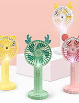 cheap -Portable USB Table Fan Handled Rechargeable Mini Desk Fan Adjustable min Fan Home Desk Office Fan