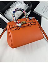 cheap -Women's Bags PU Leather Satchel Top Handle Bag Date Office & Career 2021 Handbags Black Blue Blushing Pink Dusty Rose