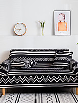 cheap -2021 New Stylish Simplicity Print Sofa Cover Stretch Couch  Super Soft Fabric Retro Hot Sale Black WhiteCouch Cover