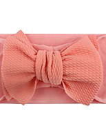 cheap -knotted big children's bowknot nylon headband, soft and elastic baby hair accessories, silk stockings headband