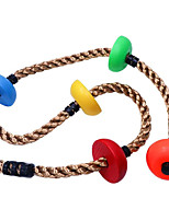 cheap -Colorful Climbing Rope - 6.5ft with 5 Knotted Foot - Kids Ninja Rope for Ninja Slackline Obstacle Course Accessories Kids Swing Set Backyard Play