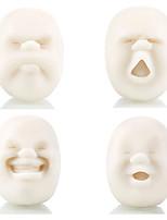 cheap -4pcs/Set Vent Human Face Ball Anti-Stress Ball of Japanese Design Caomaru(White)
