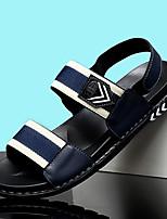 cheap -Men's Sandals Beach Daily PU Breathable Non-slipping Wear Proof Black Blue Summer