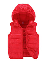 cheap -Boys' Girls' Hiking Down Jacket Hiking Fleece Vest Sleeveless Vest / Gilet Winter Jacket Top Outdoor Thermal Warm Windproof Fleece Lining Quick Dry Autumn / Fall Winter Spring orange Big red Red