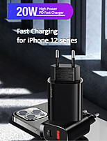 cheap -USAMS QC 3.0 20W Mobile Phone Charger For iPhone 12 11 Quick Charge  PD 3.0 Fast Charging For Samsung Huawei iPad EU Plug Adapter Wall USB Charge For Xiaomi Oneplus