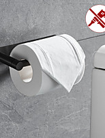 cheap -Rotatable/Foldable Toilet Paper Holder Self-adhesive Roll Paper Holder 304 Stainless Steel Paper Towel Holder Black Brushed