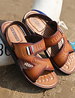 cheap -Men's Sandals Flat Sandals Casual Daily Water Shoes Upstream Shoes PU Breathable Non-slipping Wear Proof Light Brown Dark Brown Summer