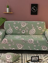 cheap -Color Green Floral Print Dustproof All-powerful Stretch Sofa Cover Super Soft Fabric  with One Free Boster Case