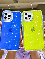 cheap -Glitter Shine Case for iPhone 12 Pro Max iPhone 11 Pro Max Clear Shockproof TPU Back Cover for Samsung Galaxy S21 Ultra S21 Plus A21s A31 A32
