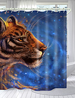 cheap -Cosmic Sky Digital Printing Shower Curtain Shower Curtains  Hooks Modern Polyester New Design