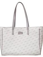 cheap -Women's Bags PU Leather Tote Top Handle Bag Zipper Date Office & Career 2021 Handbags Gray