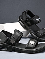 cheap -Men's Sandals Casual Beach Daily Water Shoes Upstream Shoes PU Elastic Fabric Breathable Non-slipping Wear Proof White Black Summer