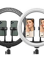 "cheap -12"" LED Ring Light Dimmable LED with Tripod Stand With Phone Holder 3 Color Lighting Modes Height Adjustable for Photography Tiktok Youtube Video Makeup Live Streaming"