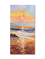 cheap -Oil Painting Hand Painted Sea Landscape Canvas Painting Comtemporary Simple Modern Stretched Canvas Ready to Hang