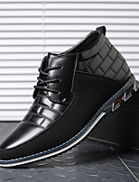 cheap -Men's Sneakers Comfort Shoes Business Daily Office & Career Walking Shoes PU Dark Brown Black Blue Fall Spring