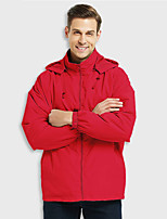 cheap -Men's Hiking Softshell Jacket Waterproof Hiking Jacket Hiking Windbreaker Summer Outdoor Waterproof Quick Dry Lightweight Breathable Jacket Hoodie Top Hunting Fishing Climbing Embroidered red Red