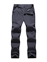 cheap -Men's Hiking Pants Trousers Softshell Pants Solid Color Winter Outdoor Windproof Fleece Lining Quick Dry Breathable Softshell Pants / Trousers Bottoms Black Army Green Grey Khaki Fishing Climbing