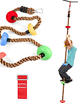cheap -6.6ft Climbing Rope with 5 Knotted Foot, Kids Ninja Rope with Square Buckle and Delta Ring, Colorful Ninja Obstacle Accessories for Ninja Line, Swing Set Backyard Outdoor Play